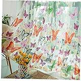 Hotaden Inizio Sheer Tende Farfalla Stampa Decorativi Sheer Tende a casa Eleganti finestre con Voile Filati Garza Tende per Soggiorno