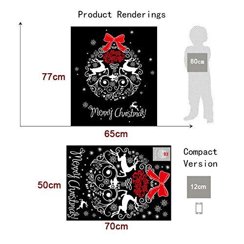 70 * 50 Cm Vrolijk Kerstmis Muursticker Rotan Ring Stickers voor Huis Vinyl Muurstickers Decal Decal Verwijderbare Stickers_2 stks 70x50cm 01