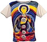 Guru-Boutique Miroir - Camiseta de algodón Chakra Yogi/Beige L
