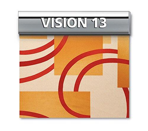 BIANCALUNA Genius 4D Copridivano 2 posti per divani da 140 a 180cm - Colori Fantasia Vision - Vision 13