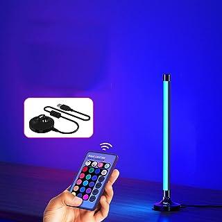 Lampadaire LED à intensité variable avec télécommande, couleur changeante RGB,Photographie atmosphère lumière-chambre cham...