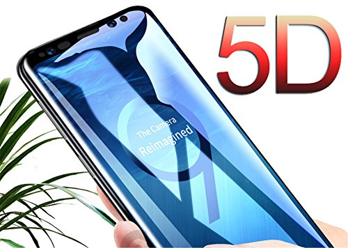 5D Curved Full Cover Tempered Glass Galaxy S8 S9 Plus S7 Edge Screen Protector Film Note 8 Glass S9 Plus Black