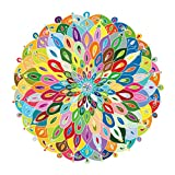GuDoQi Puzzles for Adults 1000 Piece, Blooming Color Jigsaw Puzzle, Color Challenge Round Puzzles for Kids Teens, Large Intellective Educational Family Landscape Puzzle Game Toys Gift