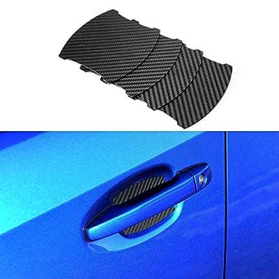Door Handle Trim Magnetic Door Cup Paint Scratch Protector Cover Accessories for Subaru WRX(4 Pcs)