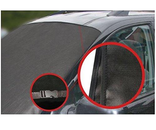 L&P Scheibenabdeckung Frostabdeckung Frontscheibe Abdeckung Frostschutz Winterschutz für Windschutzscheibe MIT KLICKVERSCHLUSS NEUHEIT (Maße 157cm x 88cm)