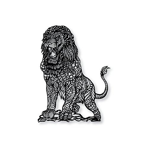 Great black and white lion Apple MacBook vinyl skin sticker decal
