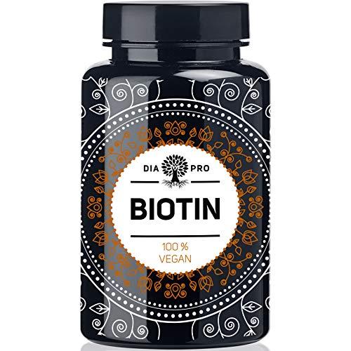 DiaPro® Hochdosierte Biotin-Tabletten mit 10 mg Biotin pro Tablette Auch als Vitamin B7 bzw. Vitamin H bekannt 365 Stück Jahresvorrat. 100% Vegan Laborgeprüft Made in Germany