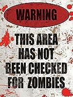 Zombie Warning メタルポスター壁画ショップ看板ショップ看板表示板金属板ブリキ看板情報防水装飾レストラン日本食料品店カフェ旅行用品誕生日新年クリスマスパーティーギフト