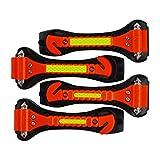 Segomo Tools 4 x Emergency Escape Safety Hammers with Car Window Breaker & Seat Belt Cutter - ESH04
