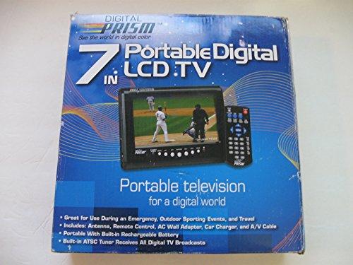 Digital Prism ATSC-710 7' Portable Handheld LCD TV with Built in ATSC/NTSC Tuner (Black)