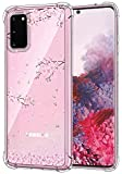 IiEXCEL Galaxy S20 Case Cherry Blossoms, Cute Falling Cherry Blossoms Pattern Clear Flexible TPU Bumper Shock Absorption Protective Case for Samsung Galaxy S20 5G [ 6.2 inch 2020 Release ] - Cherry