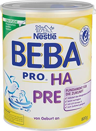 Nestlé BEBA PRO HA PRE Hypoallergene Säuglings-Anfangsnahrung, von Geburt an, 800g