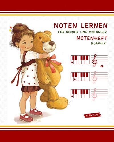 Notenheft. Noten lernen für Kinder und Anfänger. Klavier.