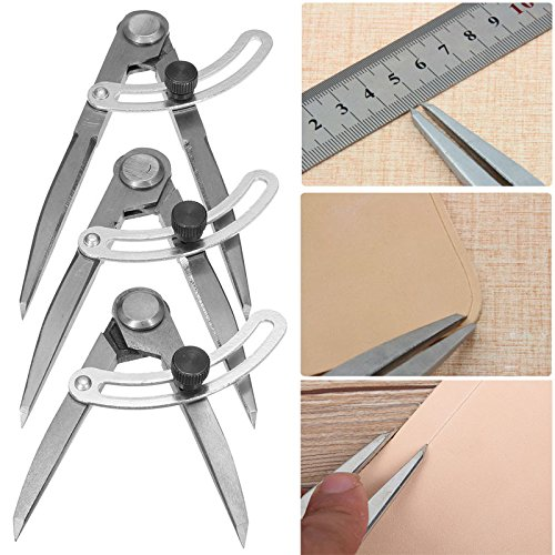 MASUNN Drawing Measure Gauge Afstand Kompas Divider Leer Craft Design Layout Tool