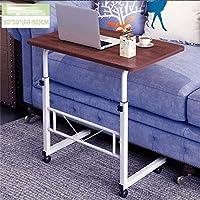 ベッド用テーブル ノートパソコンデスク高さ調節が可能なノートPCデスクポータブル可動Mutil目的のノートブックコンピュータのデスク (Color : Brown)