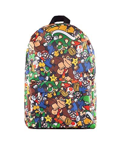 Super Mario Bros - Rucksack - Mehrfarbig - All Hero - Luigi - Dinkey Kong - Bowser