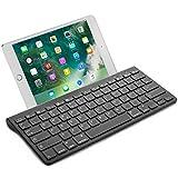 [page_title]-OMOTON Wireless Deutsche Bluetooth Tastatur (ultraschlanke) für alles Apple iPad Air, iPad Pro,iPad Mini,iPhone x,iPhone 8 Plus/ iPhone 8/ iphone 6s und andere iOS Gerät,QWERTZ,mit Halterung,schwarz