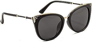 """""""N/A"""" - Gafas De Sol Negras Moda para Mujer Gafas De Sol Retro con Montura Salvaje Gafas De Sol Polarizadas Cat Eye"""