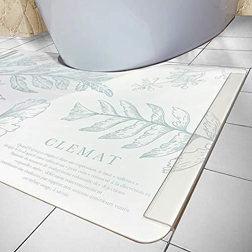 Luna & Stella 使い捨て トイレマット CLEMAT おしゃれ 吸水紙 速乾 ずれない 白 グリーン 35cm×45cm