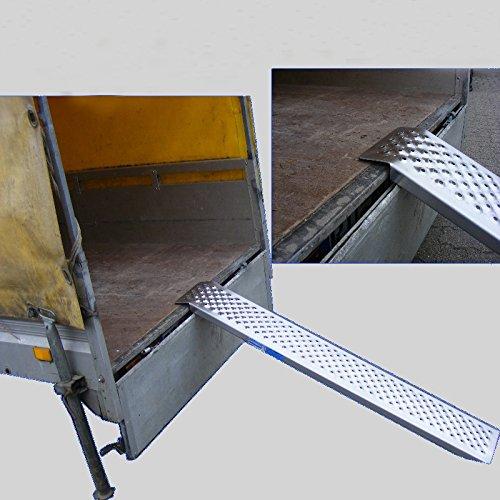 Alu Auffahrrampe 150 cm 200 kg Auffahrschiene Verlade Rampe Verladerampe Verladerampen Laderampe Laderampen Motorradrampe TrutzHolm® (1 Stück)