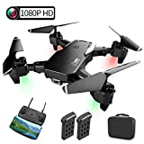 Drone with Camera, Foldable Drone with 1080P HD WiFi FPV Live Video, 30