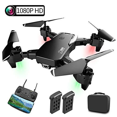 Drone con Camara, Drones para Niños con 2 Baterías Modulares, 1080P HD Camara WiFi FPV, Altitude Hold, Modo sin Cabeza, Devolución con un Clic, Vuelo de trayectoria, Adecuado para Principiantes.