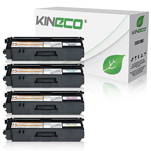 Kineco 4 Toner kompatibel für Brother TN-325 für Brother HL-4140CN, DCP-9055CDN, DCP-9270, HL-4150, HL-4570, MFC-9460CDW, MFC-9970, MFC-9560 - Schwarz 4.000 Seiten, Color je 3.500 Seiten