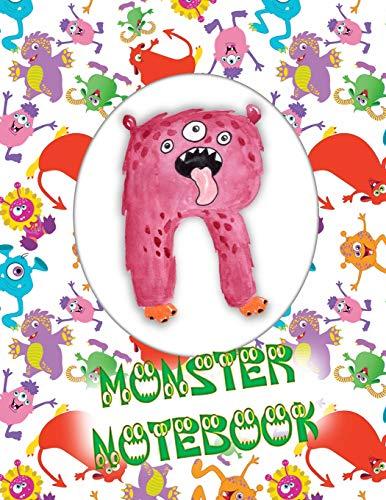 R Monster Notebook: Kids Monogrammed Journal and Doodle Book