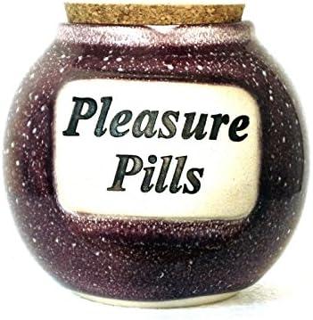 Muddy Waters Direct stock discount Dallas Mall Ceramic Word Pills Jar Pleasure