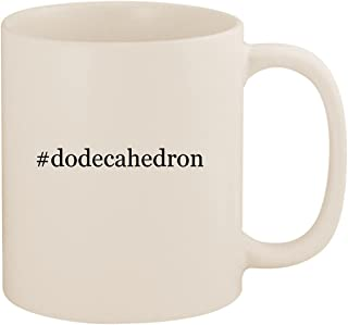 #dodecahedron - 11oz Ceramic Coffee Mug Cup, White