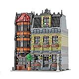 Bulokeliner MOC-45758, 4629 piezas, modelo de arquitectura modular para casa Downtown Street View Pub, compatible con casa Lego.