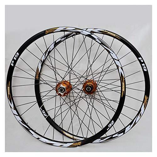 Accesorio de bicicleta de ejes de liberación rápid Bike Wheelset MTB para la montaña 26 27.5 29 en la plaga de aleación de doble capa Rodamiento sellado 7-11 Cassette de velocidad HUB Freno de disco Q