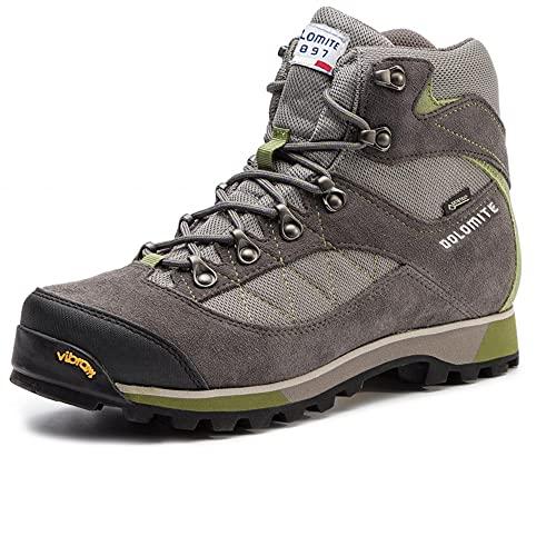 Dolomite Bota ZERNEZ GTX, Stivali da Escursionismo Alti Unisex-Adulto, Graphite Grey/Olive Green, 44 EU