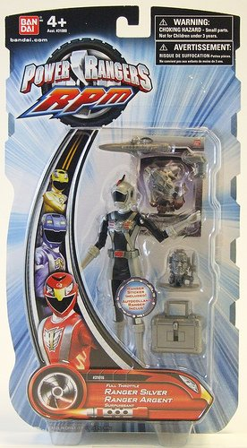 Power Rangers RPM Full Throttle Silver Ranger Action Figure
