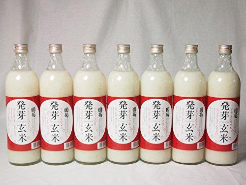 篠崎 国菊甘酒 発芽玄米 あまざけノンアルコール 985g×7本(福岡県) [並行輸入品]