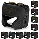 Elite Sports Boxing MMA Sparring Kickboxing Headgear for Men, Muay Thai Boxing Head Guard Helmet for Head Protection(Copper)
