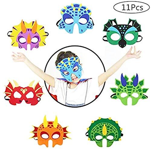 BJ-SHOP Dinosaurier Masken,Dino Masken Cosplay Party Masken Halbmasken Halbe Augenmasken fur Kinder Party Taschen Fullstoffe
