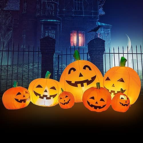Halloween Inflatables Halloween Decorations Indoor Outdoor – 7.5FT Halloween Inflatable Pumpkin Decorations,Halloween Ghost Yard Decorations Outside