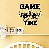 57x62 cm temps de jeu rugby art wall sticker décoration Stickers peinture murale Amovible Décor Papier Peint