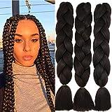 60cm Pelo Sintetico para Trenzas Africanas Extensiones de Cabello Jumbo Braids Crochet Braiding Hair...