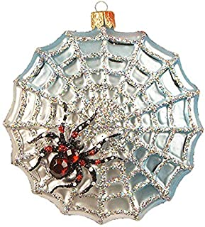 Spider Web The Legend Halloween Bug Insect Polish Glass Christmas Tree Ornament Decoration 318