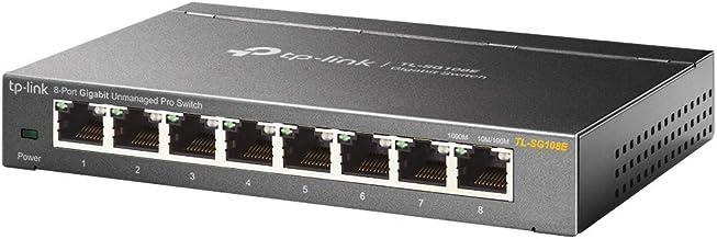 TP-Link TL-SG108E 8-Port Desktop Gigabit Unmanaged Pro Ethernet Switch, Lifetime Warranty