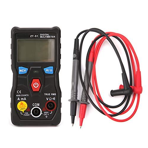 Meiqqm ZT-S1 - Multímetro digital con sensor de movimiento automático Rms Automotriz Mmultimetro con luz de fondo LCD y linterna