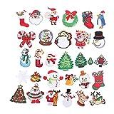 Fugift Stickerei-Aufnäher mit Weihnachtsmotiv, Wärmeübertragung, zum Aufbügeln oder Aufnähen,...