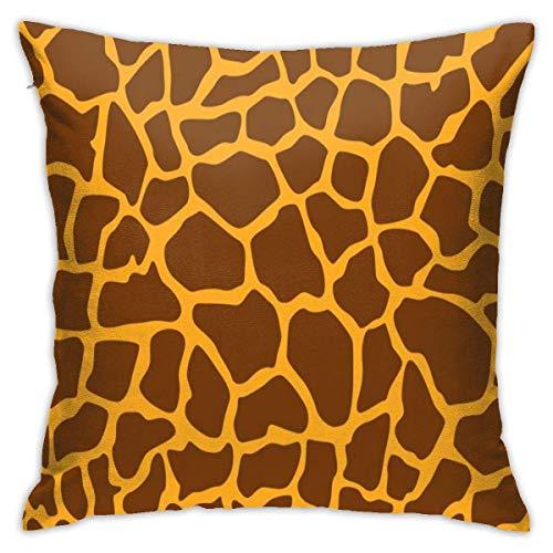 Asekngvo Funda de Almohada con patrón de Piel de Leopardo y Animal Salvaje de Jirafa, cojín, Funda Cuadrada, sofá Decorativo para el hogar, 18 X