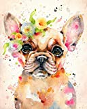 Runfar 5D Diamond Painting Kits for Adults Full Drill Square Rhinestone Embroidery Dotz Craft Cross Stich Gift Home Decor Dog Large Size 40x50cm/16x20inch