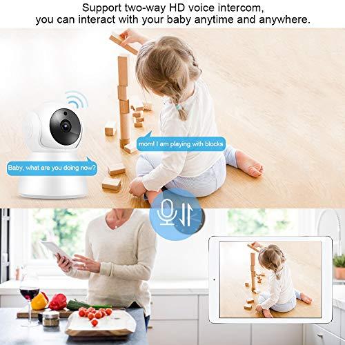 Cámara de Seguridad para el hogar, IP Baby Webcam Teléfono móvil Tableta y PC Control Remoto para iOS para Android para monitoreo de bebés(Regulaciones australianas)