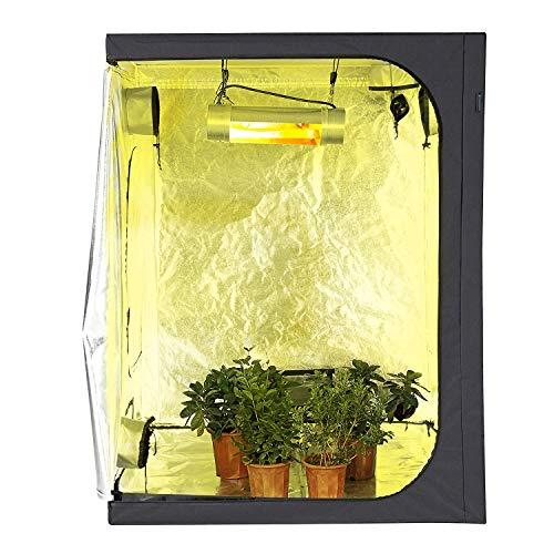Imagen del productoYipianyun Armario De Cultivo Interior 120X60x150cm Armario De Cultivo Carpa, Impermeable Ideal para Plántulas, Frutas, Hierbas, Flores Y Vegetales,120 * 60 * 150cm