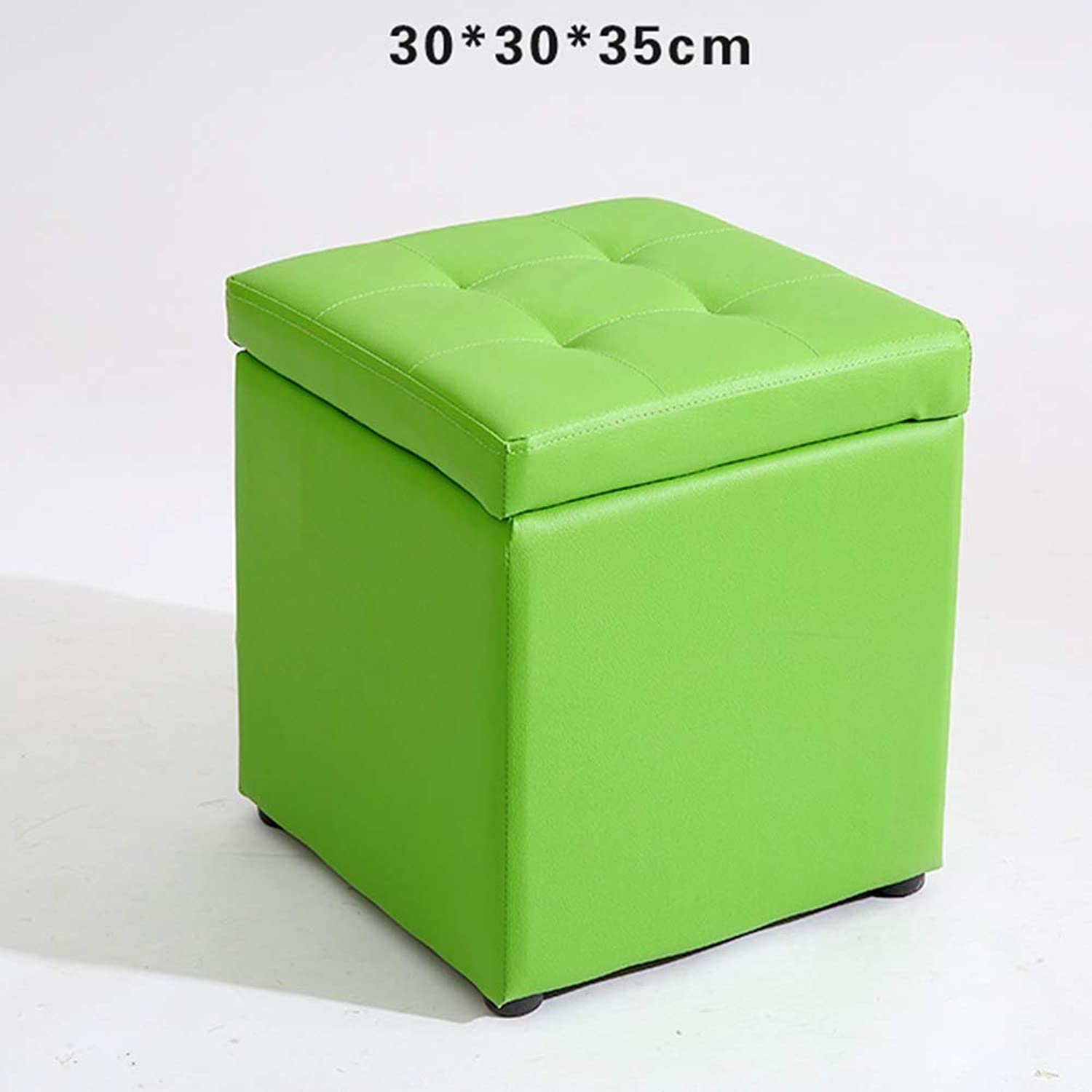 ZHAOYONGLI Stools Footstool Step Stool Living Room Small Stool Storage Stool Change shoes Non-Slip Storage Bench Low Stool Creative Solid Durable Long Lasting (color   Green)