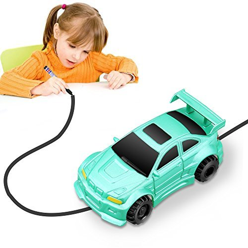 YoCosii Mini Toy Vehicle Model Induction Follow Black Line Car, Magic Inductive Truck Toy Educative, Imaginative, Learning & Fun for Children Green